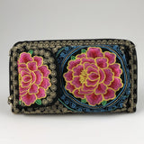 Phone Purse Wallet - Colorful Mexican Embroidered - Handmade in Mexico Wallet Import