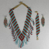 Shakira Jewelry Set - Earrings, Necklace, Bracelet - Mexican Indigenous HandMade Necklace Import