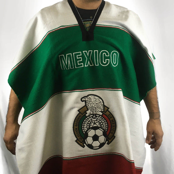 Mexican Patriot Poncho Poncho Import White Soccer