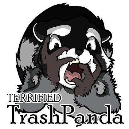 Terrified Trashpanda