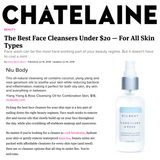 NIU BODY 100% Natural and Vegan Skincare - Press Chatelaine