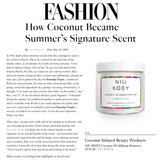 NIU BODY 100% Natural and Vegan Skincare - Press FASHION Magazine