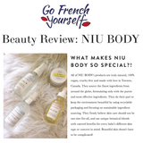 NIU BODY 100% Natural and Vegan Skincare - Review Go French Yourself