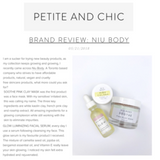 NIU BODY 100% Natural and Vegan Skincare - Reviews Petite and Chic