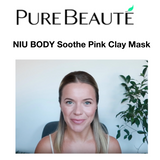 NIU BODY All Natural Vegan Skincare Product Review Soothe Pink Clay Mask