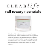 NIU BODY 100% Natural and Certified Cruelty-free Skincare Press Clear Life Magazine