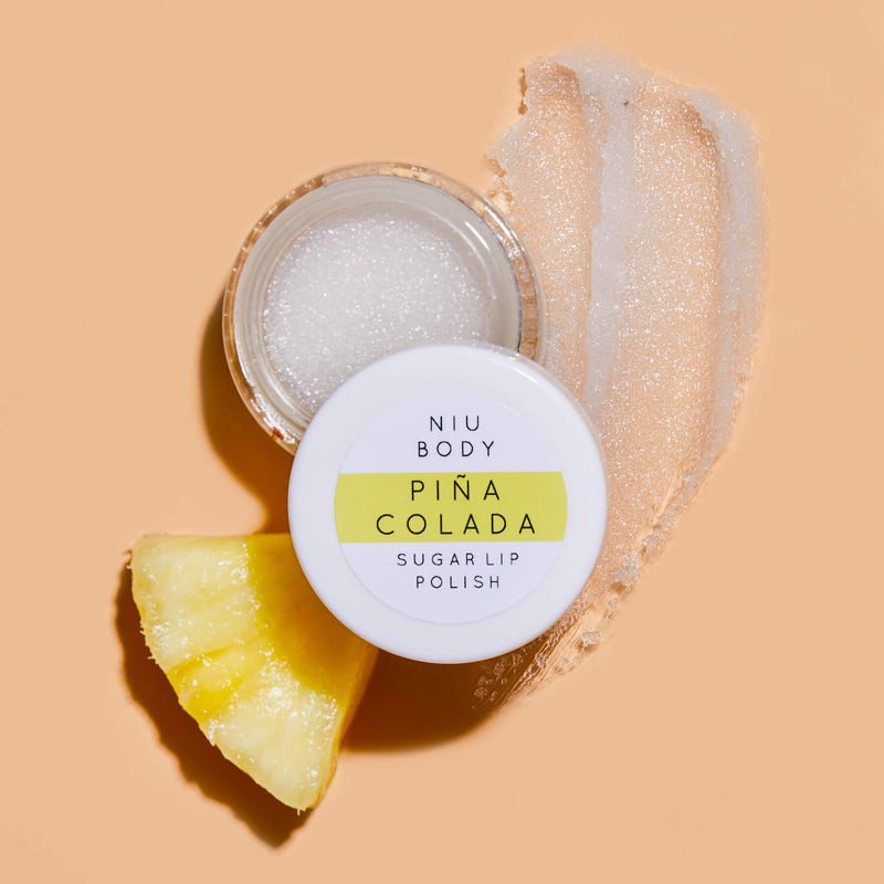 Piña Colada Sugar Lip Polish LIP POLISHES - NIU BODY NATURAL SKINCARE BEAUTY PRODUCTS ORGANIC