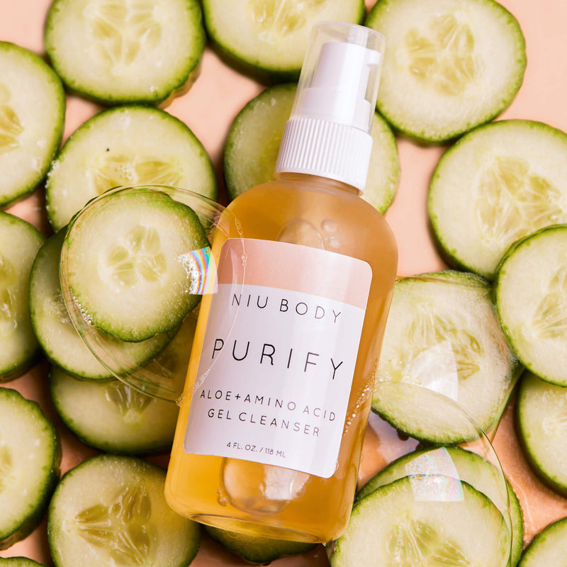 (NEW!) Purify Aloe + Amino Acid Gel Cleanser GEL CLEANSER - NIU BODY NATURAL SKINCARE BEAUTY PRODUCTS ORGANIC