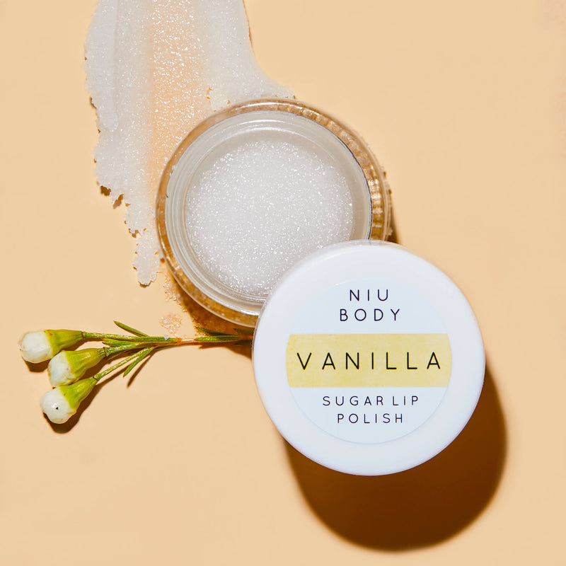 Vanilla Sugar Lip Polish LIP POLISHES - NIU BODY NATURAL SKINCARE BEAUTY PRODUCTS ORGANIC