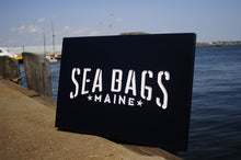 Load image into Gallery viewer, Carved Cedar Sign Sea Bags Boothbay ME