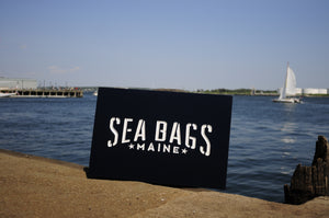Carved Cedar Sign Sea Bags Portland ME
