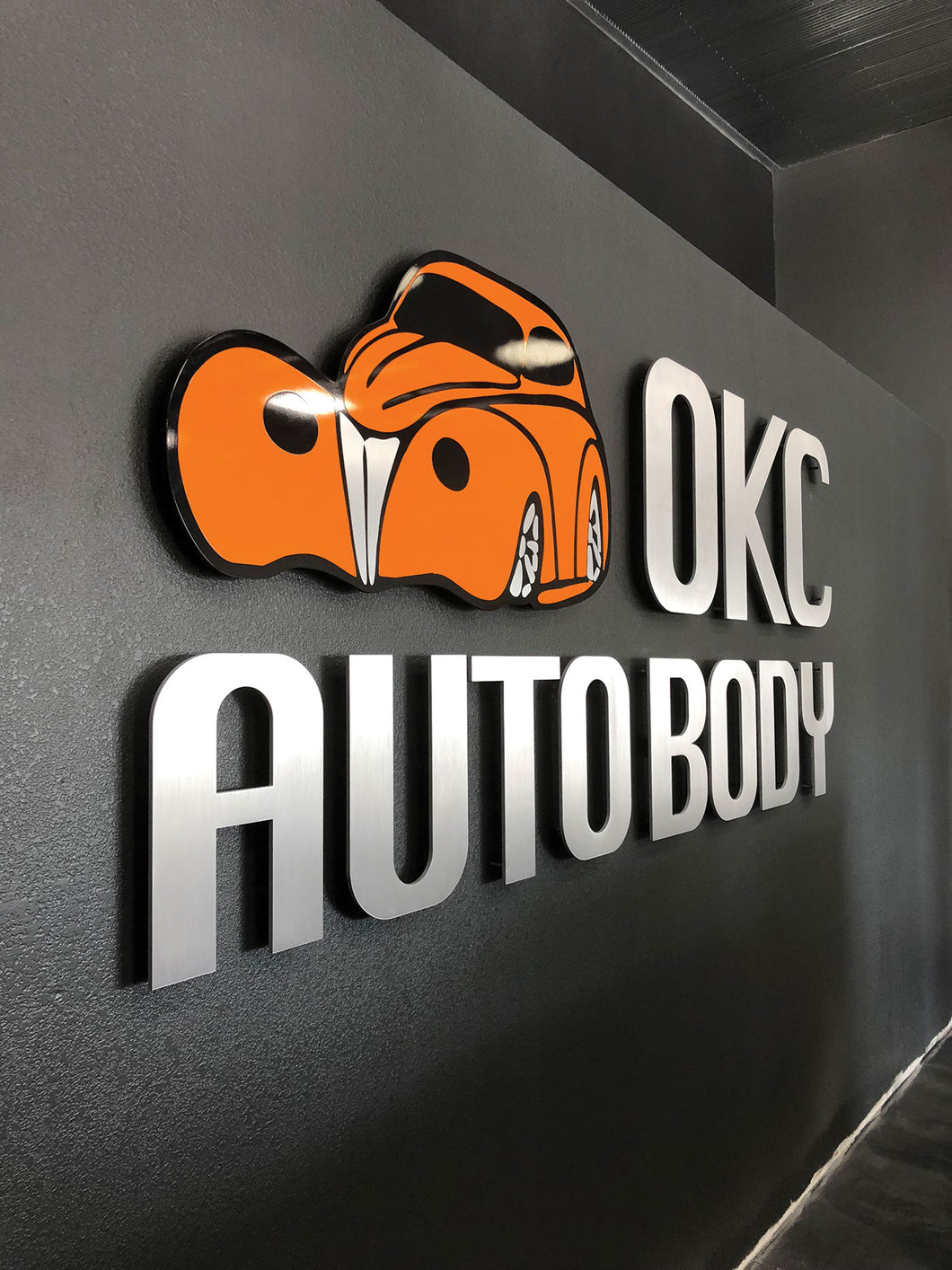 Precision Cut Aluminum Letters and Painted Graphics