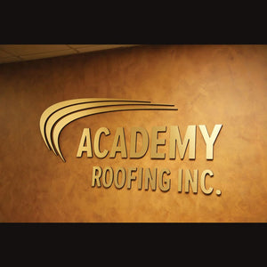 Brushed Metal Laminated Letters and Logos
