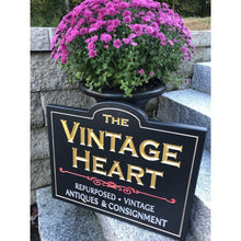 Load image into Gallery viewer, Carved Dimensional Sign Vintage Heart Main St Gorham Me