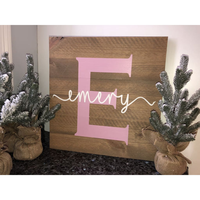 Rustic Pine Sign - Name And Letter Sign