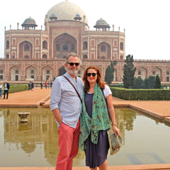 Clive and Gabrielle Jones in Delhi