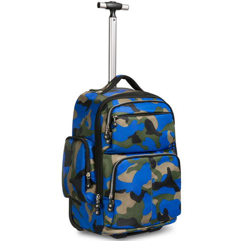 rolling backpack travel luggage