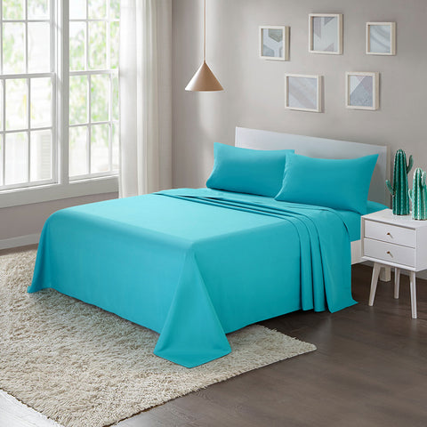 Brushed Microfiber Bed Sheet Set1800 Bedding Teal - ARTALL