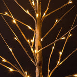 48 LED Birch Tree Light, 4FT Warm White Light Christmas Tree Light for Indoor Outdoor Use, Artificial Tree Light for Wedding and Party Decoration