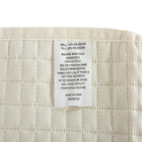 HollyHOME Luxury Super Soft Solid Single Pinsonic Quilted Bed Quilt, Ivory - HollyHOME
