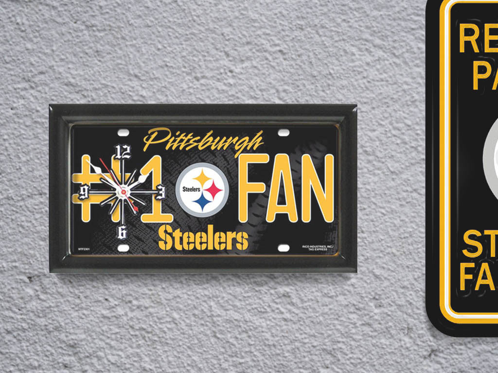 Pittsburgh steelers limited edition 1 fan clock sportsfanmart prev amipublicfo Image collections