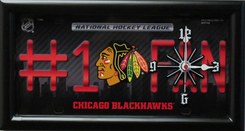 Chicago Blackhawks Limited Edition #1 Fan Clock