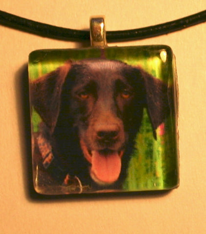 Dog Photo Pendant Glass Custom
