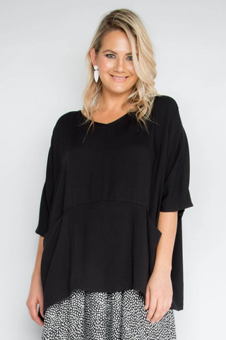A Nice Top with Pockets in Black