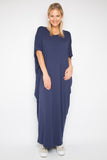 Maxi Miracle Dress in Navy (bamboo)