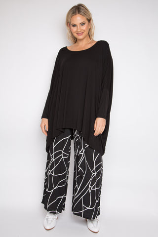 Long Sleeve Essential Top (bamboo) in Black