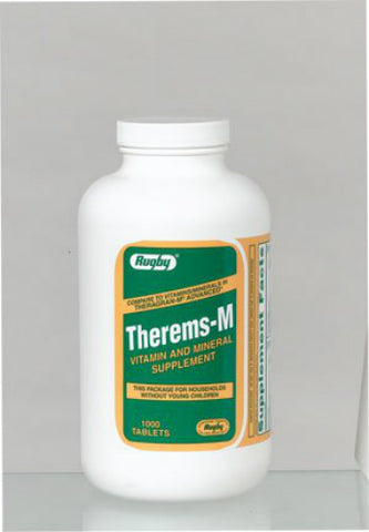 Rugby Therems-M Tablets, 1000ct 305364661103S2601