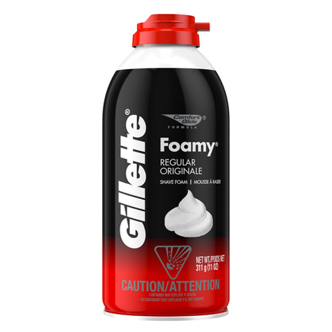 Gillette Foamy Shave Cream, Regular, 11oz 047400240407A167