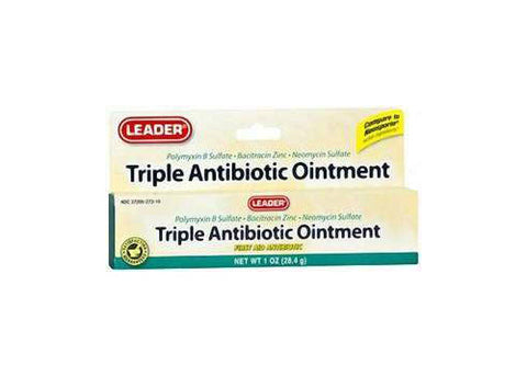 LEADER Triple Antibiotic Ointment 1oz 096295068801S280