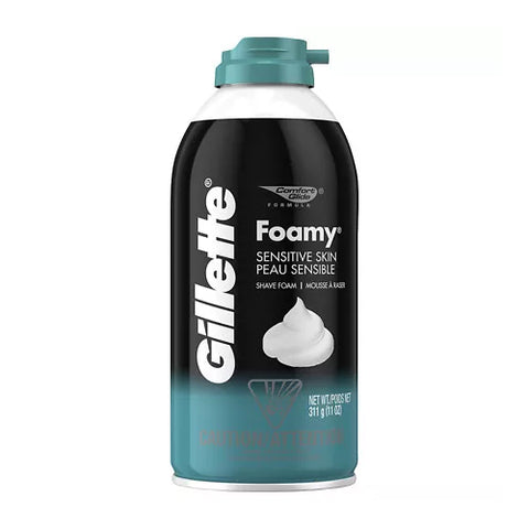 Gillette Foamy Shaving Cream, Sensitive Skin, 11oz 047400241459A177