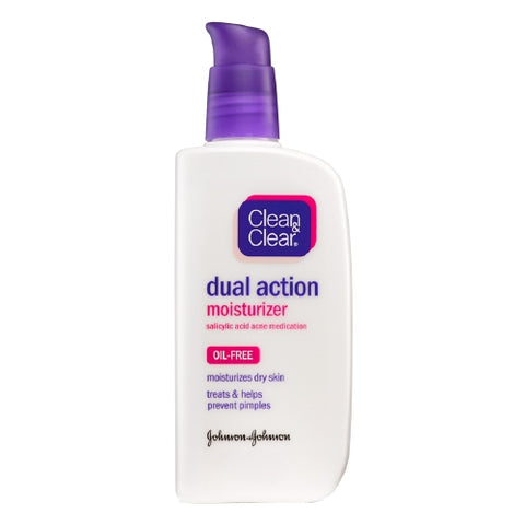 Clean & Clear Oil-Free Dual Action Moisturizer, 4oz 381370035725T469