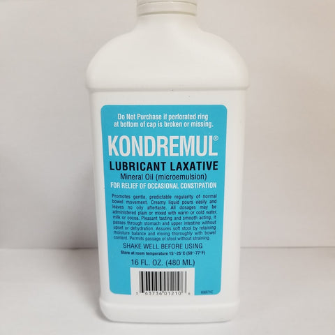 Kondremul Lubricant Laxative Mineral Oil, 16oz 363736012106A783
