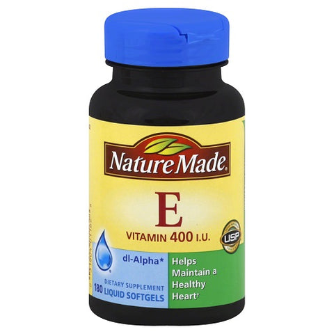 Nature Made Vitamin E 400 IU Softgels, 180ct 031604011628S1144