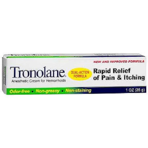 Tronolane Hemorrhoid Cream, Rapid Relief, 1oz 300744814018A371