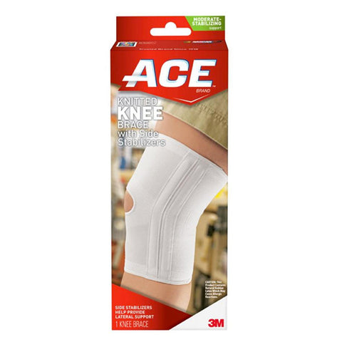 Ace Knitted Knee Brace w/Side Stabilizers, Large, 1ct 051131198203A812