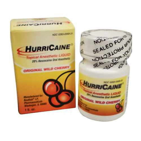 HurriCaine Topical Anesthetic Liquid, Wild Cherry, 1oz 302830569314A703