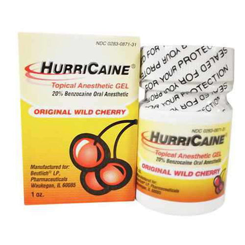 HurriCaine Topical Anesthetic Gel, Wild Cherry, 1oz 302830871318T703