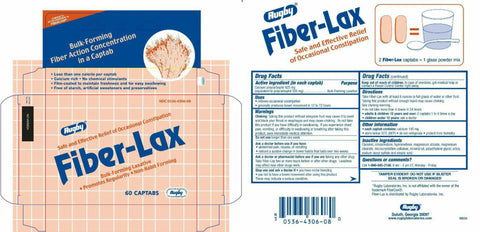 Rugby Fiber-Lax CapTablets, 625mg, 60ct 305364306080A417