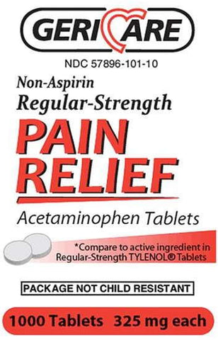 Acetaminophen Regular Strength Tablets, 325mg, 1000ct 578961011071A529