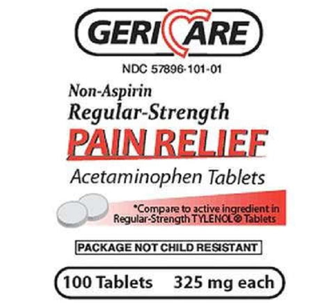 Acetaminophen Regular Strength Tablets, 325mg, 100ct 578960101018A089