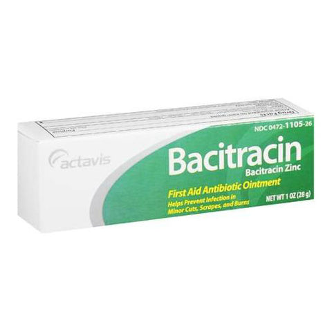 Actavis Bacitracin 500unit/gm Ointment, 14gm 004721105341S273