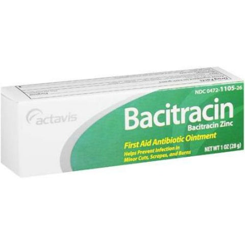 Actavis Bacitracin First Aid Antibiotic Ointment, 1oz 004721105563A424