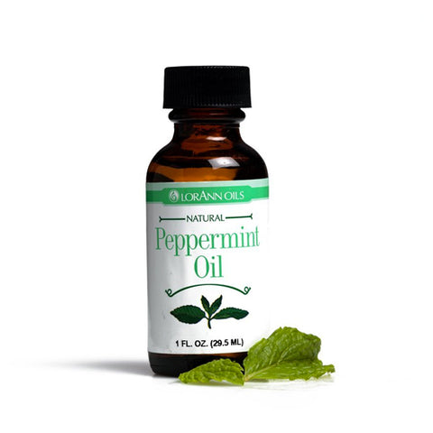 LorAnn Natural Flavoring Oils, Natural Peppermint, 1oz 023535070058T569
