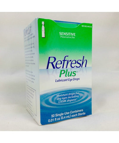 Refresh Plus Lubricant Eye Drops, Single-Use, 50ct 300235487509T1280