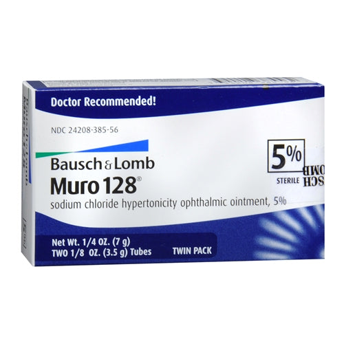 Bausch & Lomb Muro-128 Ophthalmic Ointment, 5%, 2ct 324208385562G2816