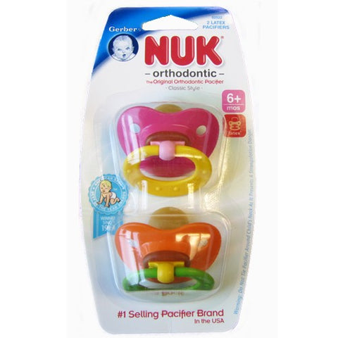 NUK Orthodontic/Exercise Pacifier, 6-18 Months, 2ct 885131025012A310
